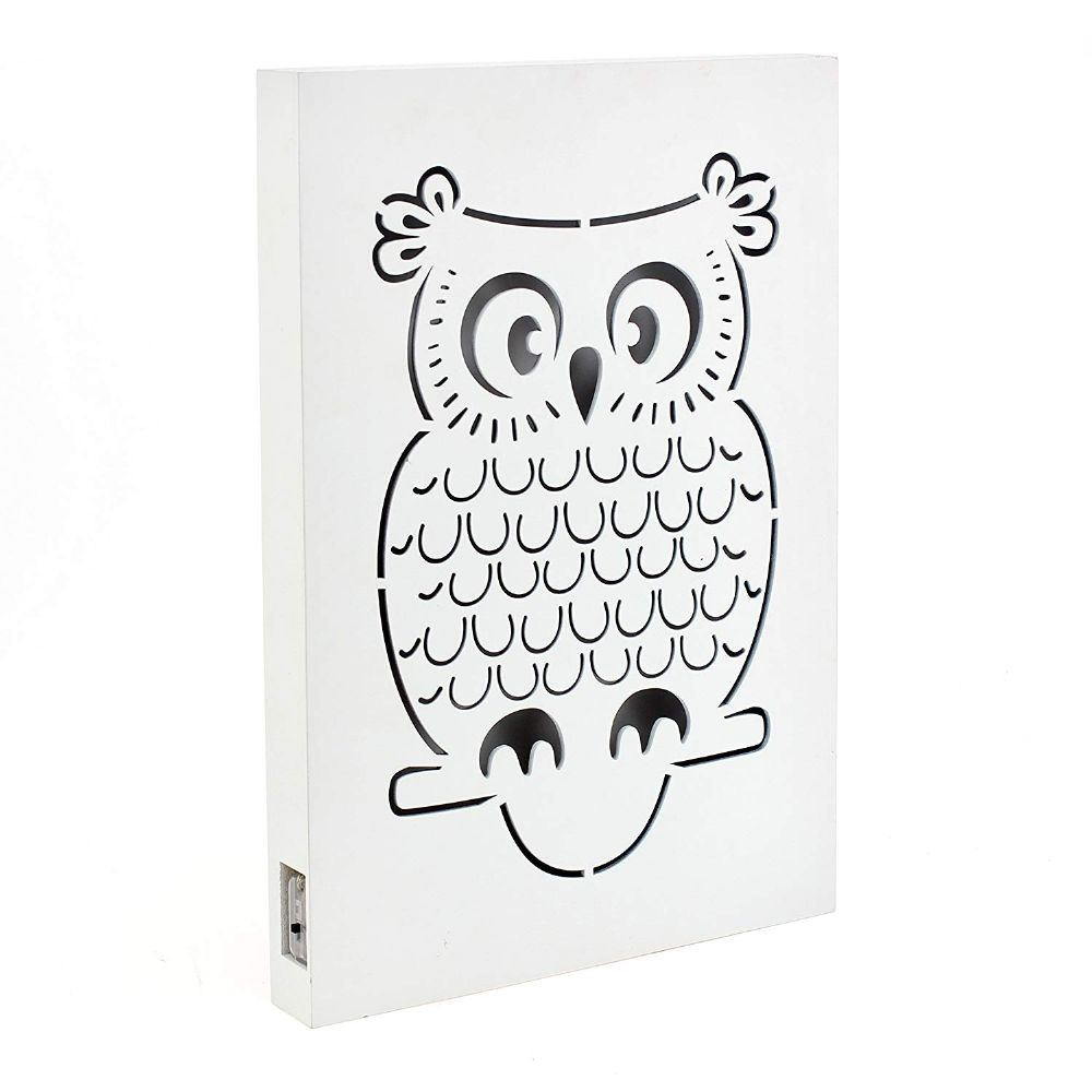 Light Up LED Owl Motif Wall Hanging